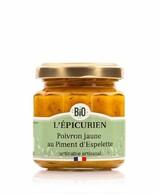 TARTINABLE POIVRON JAUNE AU PIMENT D'ESPELETTE BIO L'EPICURIEN